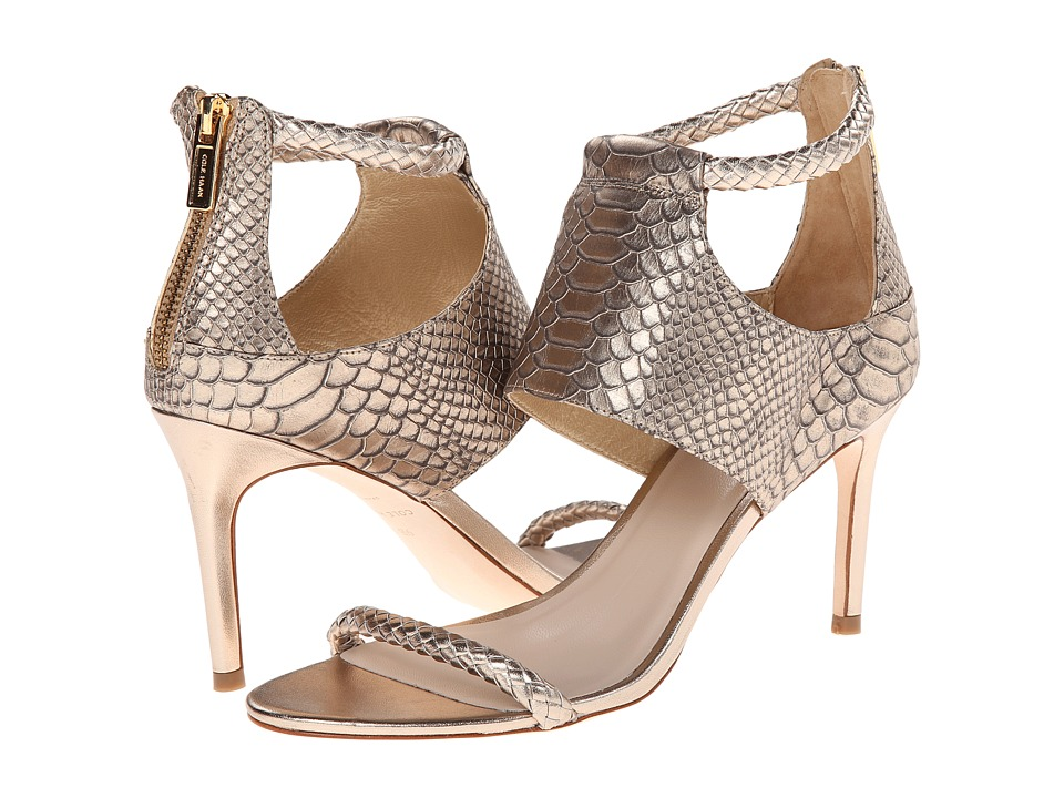 Cole Haan - Lise Sandal (Champagne Snake Print) High Heels