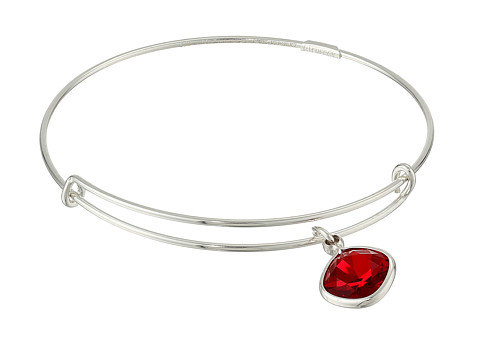 Alex and Ani - Precious Siam Endurance Charm Bangle (Silver/Red) Bracelet