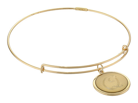 Alex and Ani - Precious Initial Q Bracelet (Gold) Bracelet