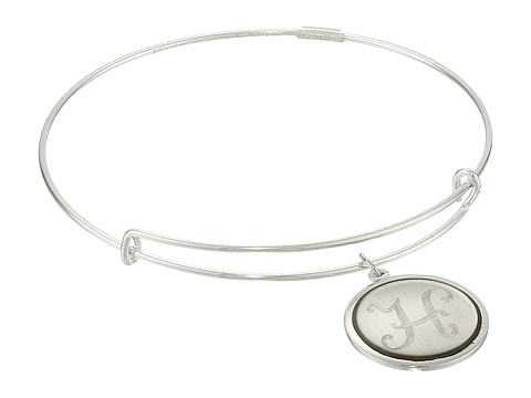 Alex and Ani - Precious Initial H Charm Bangle (Silver) Bracelet