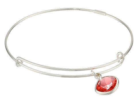 Alex and Ani - Precious Padparadscha Energy Charm Bangle (Silver/Red) Bracelet