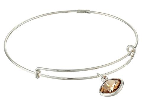 Alex and Ani - Precious Light Smokey Topaz Clarity Charm Bangle (Silver/Brown) Bracelet