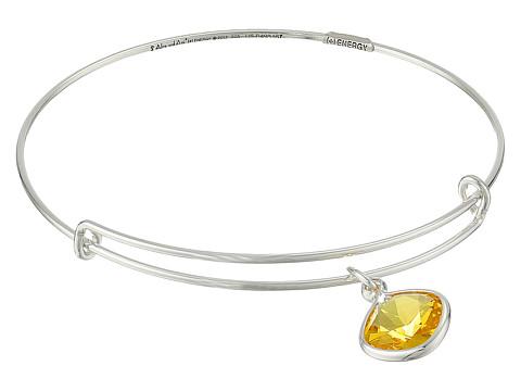 Alex and Ani - Precious Sunflower Intellect Charm Bangle (Silver/Yellow) Bracelet
