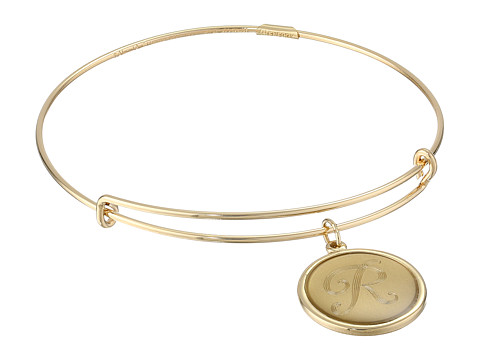 Alex and Ani - Precious Initial R Charm Bangle (Gold) Bracelet