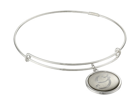 Alex and Ani - Precious Initial G Charm Bangle (Silver) Bracelet