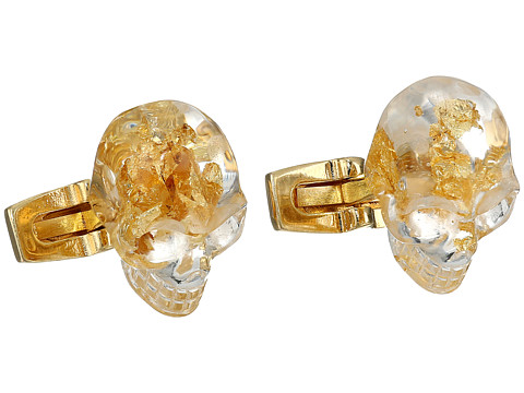 Alexander McQueen - Metal Leaves Cufflinks (Amber) Cuff Links