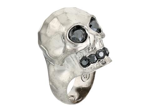 Alexander McQueen - Textured Skull Ring (Jet Hematite) Ring