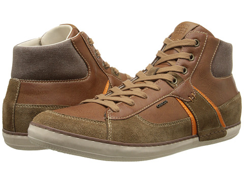 Geox - U Box (Hi Top) (Camel) Men's Lace up casual Shoes