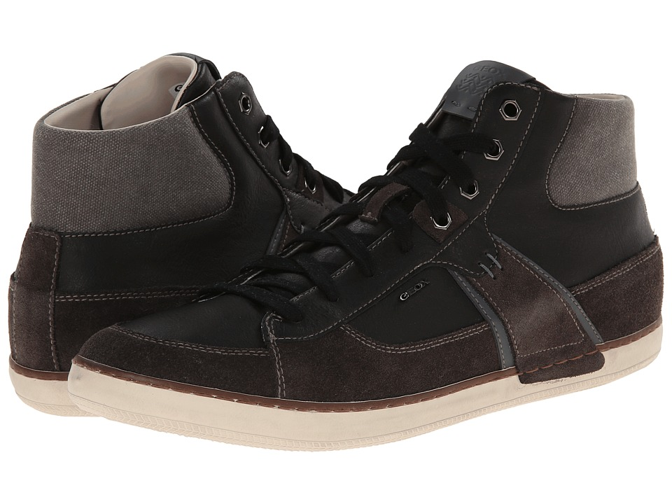 Geox - U Box (Hi Top) (Mud/Black 1) Men's Lace up casual Shoes