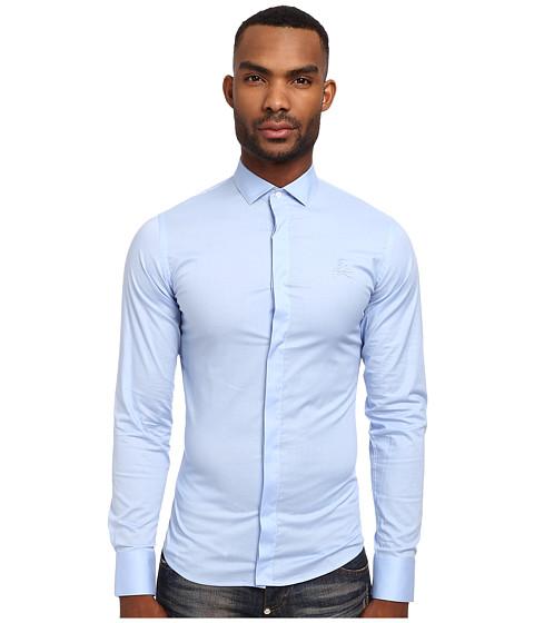Philipp Plein - Circle Button Up (Light Blue) Men's Long Sleeve Button Up