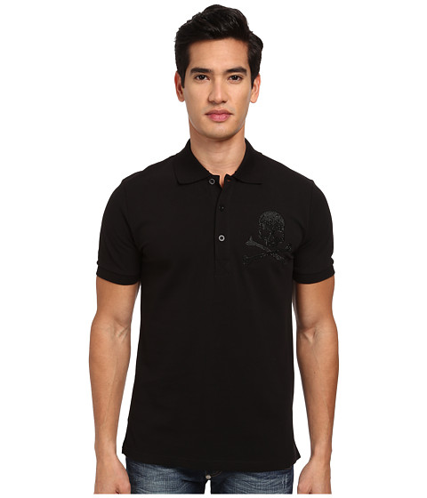 Philipp Plein - Next Year Polo (Black) Men's Clothing