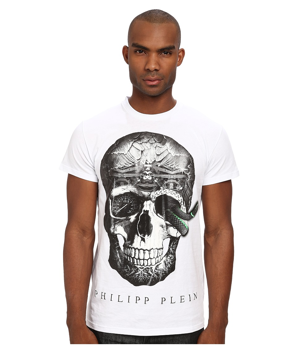 Philipp Plein - The Venom T-Shirt (White) Men's Short Sleeve Pullover