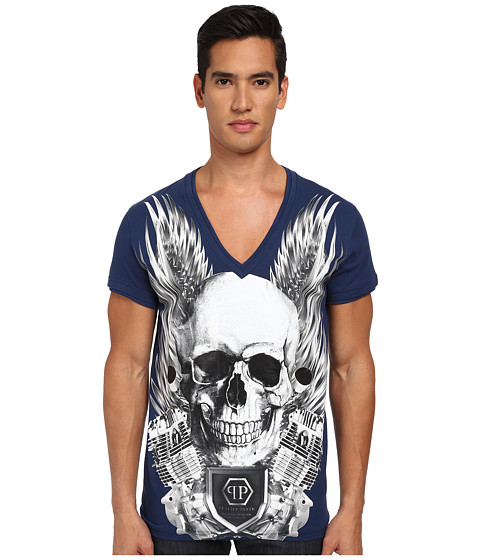 Philipp Plein - Captain T-Shirt (Middle Blue) Men's T Shirt