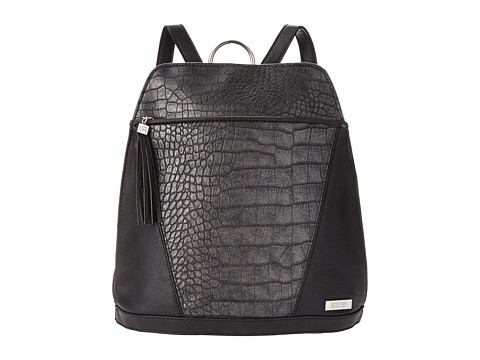 Kenneth Cole Reaction - 4 Easy Pieces Backpack (Pewter/Black/Metal Crush/Nappa Wax) Backpack Bags