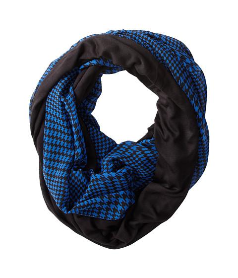 Calvin Klein - Jersey/Chiffon Infinity Loop (Blue) Scarves