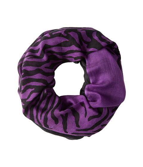 Calvin Klein - Zebra Crepe Infinity (Violet) Scarves