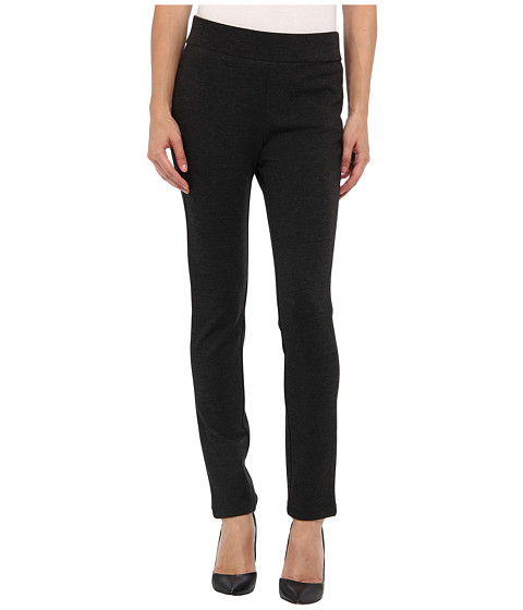 NYDJ Petite - Petite Jodie Pull-On Ponte Knit Legging (Charcoal) Women