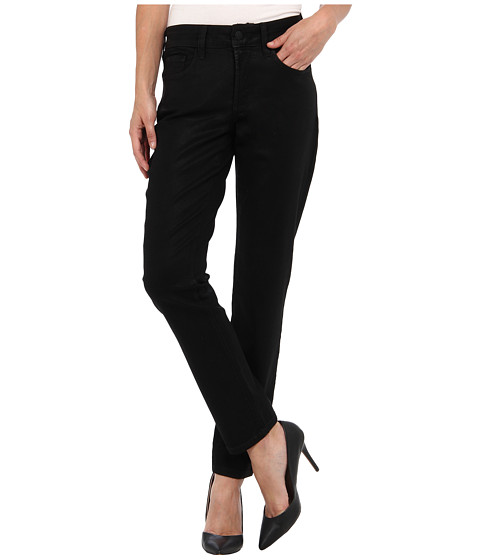 NYDJ Petite - Petite Alina Legging Coated Denim (Black) Women
