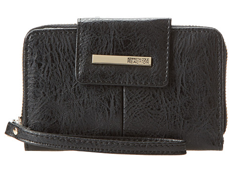 Kenneth Cole Reaction - Wooster Street PDA Tab Wristlet (Black) Wristlet Handbags