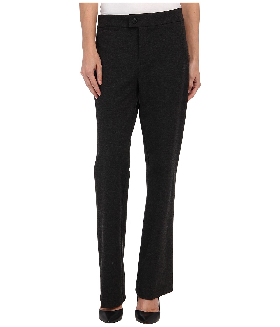 NYDJ Petite - Petite Ponte Trouser (Heather Charcoal) Women's Casual Pants