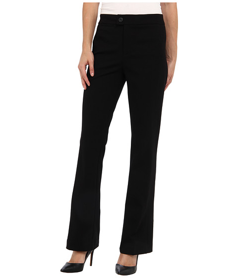 NYDJ Petite - Petite Ponte Trouser (Black) Women's Casual Pants