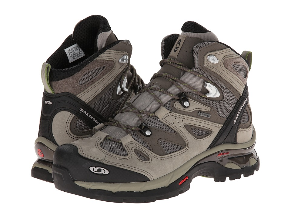 Salomon - Comet 3D GTX (Dark Titanium/Swamp/Turf Green) Men's Hiking Boots
