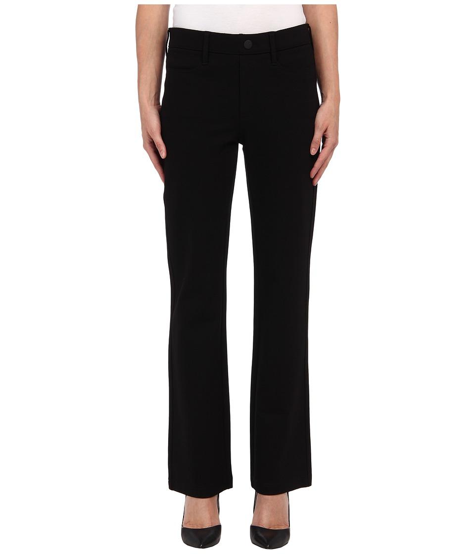 NYDJ Petite - Petite Pull-On Baby Bootcut Ponte (Black) Women's Casual Pants