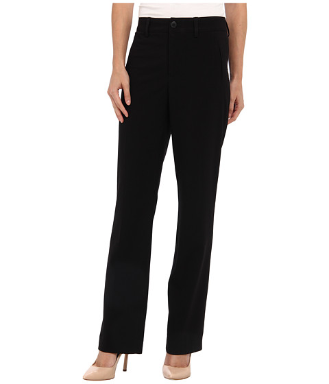 NYDJ Petite - Petite Refined Stretch Straight Leg Trouser (Black) Women's Dress Pants