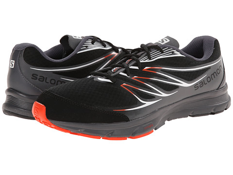 Salomon - Sense Link (Black/Dark Cloud/Tomato Red) Men's Running Shoes