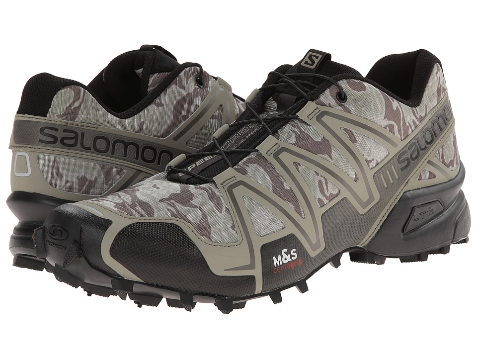 Salomon - Speedcross 3 (Camo Titanium/Dark Titanium/Swamp) Men's Running Shoes