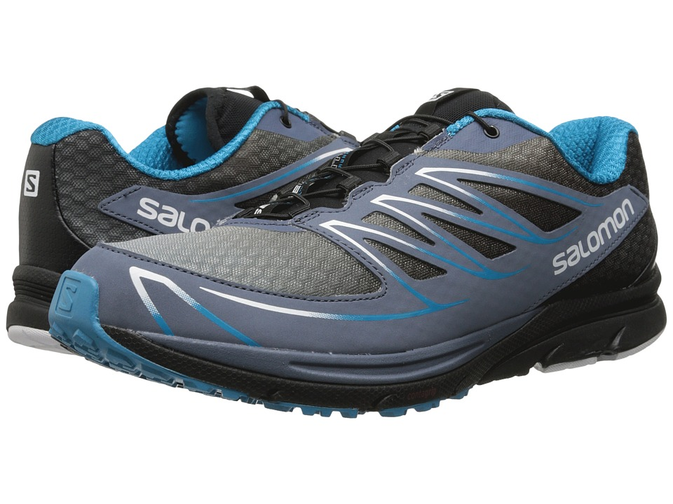Salomon - Sense Mantra 3 (Bleu Gris/Black/Boss Blue) Men's Shoes