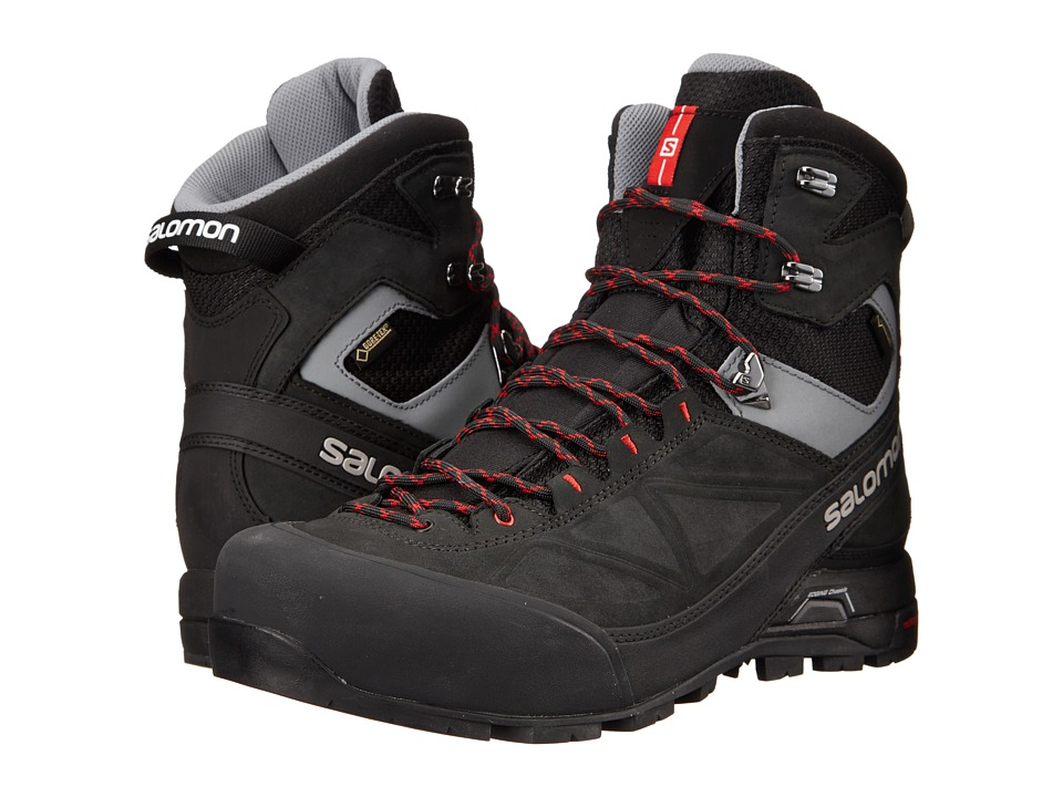 Salomon - X Alp Mtn GTX (Black/Asphalt/Quick) Men's Shoes
