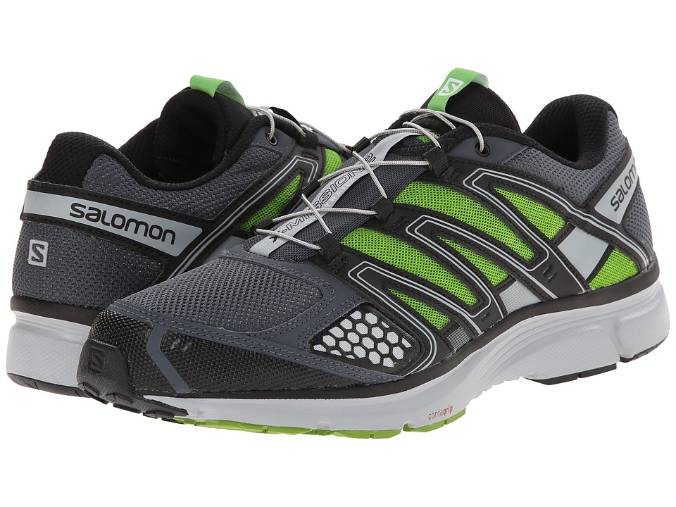 Salomon - X-Mission 2 (Grey Denim/Light Onix/Spring Green) Men's Shoes