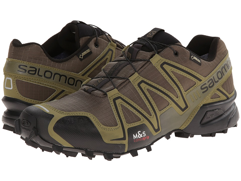 Salomon - Speedcross 3 GTX (Dark Khaki/Black/Iguana Green) Men's Shoes
