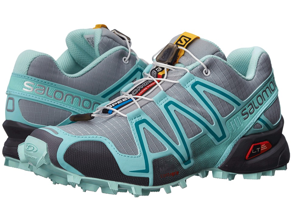 Salomon - Speedcross 3 (Light Onix/Topaz Blue/Dark Cloud) Women's Running Shoes