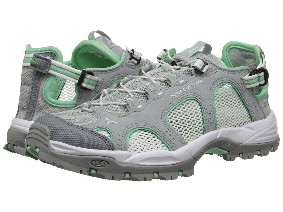 Salomon - Techamphibian 3 (Light Onix/White/Lucite Green) Women's Shoes