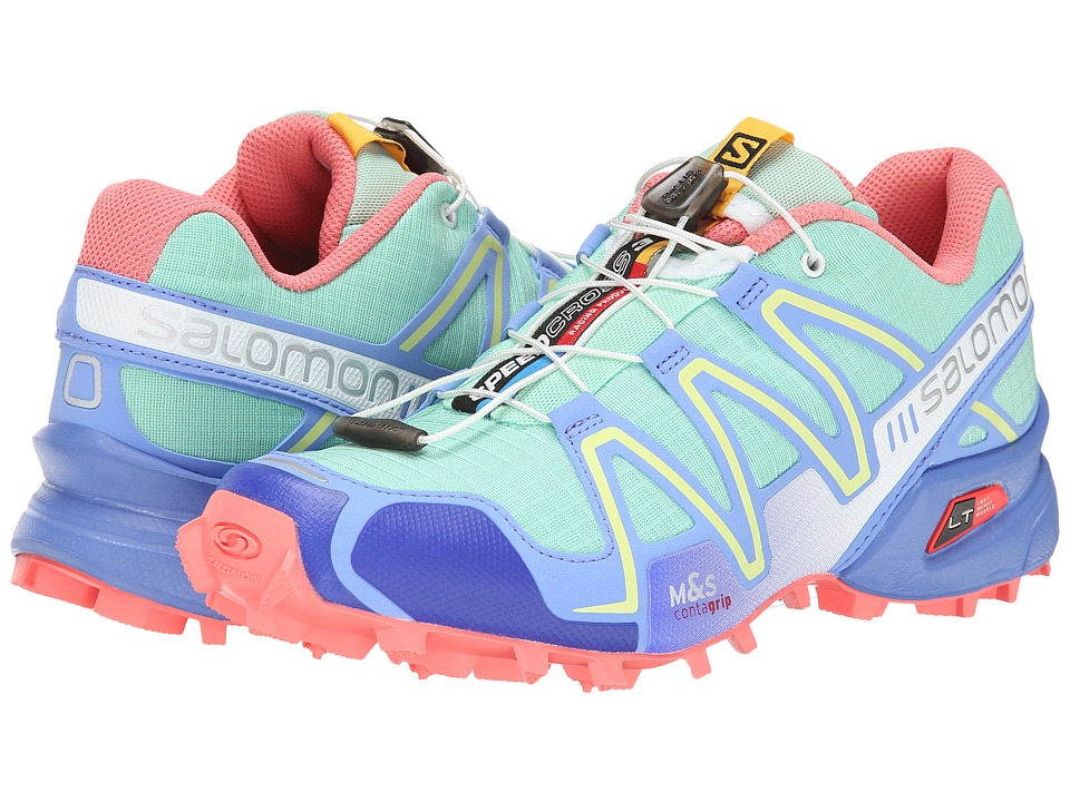 Salomon - Speedcross 3 (Lucite Green/Petunia Blue/Melon Bloom) Women's Running Shoes