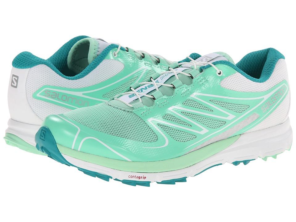 Salomon - Sense Pro (Lucite Green/White/Peacock Blue) Women's Running Shoes