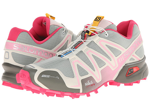 Salomon - Speedcross 3 CS (Green Clay/Light Grey/Sakura Pink) Women's Running Shoes