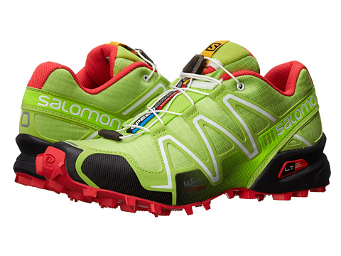 Salomon - Speedcross 3 (Firefly Green/Black/Papaya-B) Women's Running Shoes