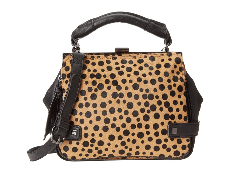 Kenneth Cole Reaction - Square Deal Satchel (Black/Polka Dot) Satchel Handbags