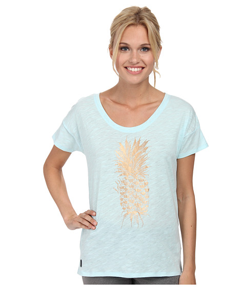 Lole - Keira Short Sleeve Top (Kelp Pi a Colada) Women