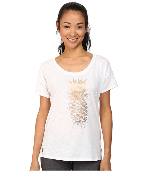 Lole - Keira Short Sleeve Top (White Pi a Colada) Women