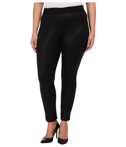 Karen Kane Plus - Plus Size Faux Leather Legging (Black) Women's Casual Pants