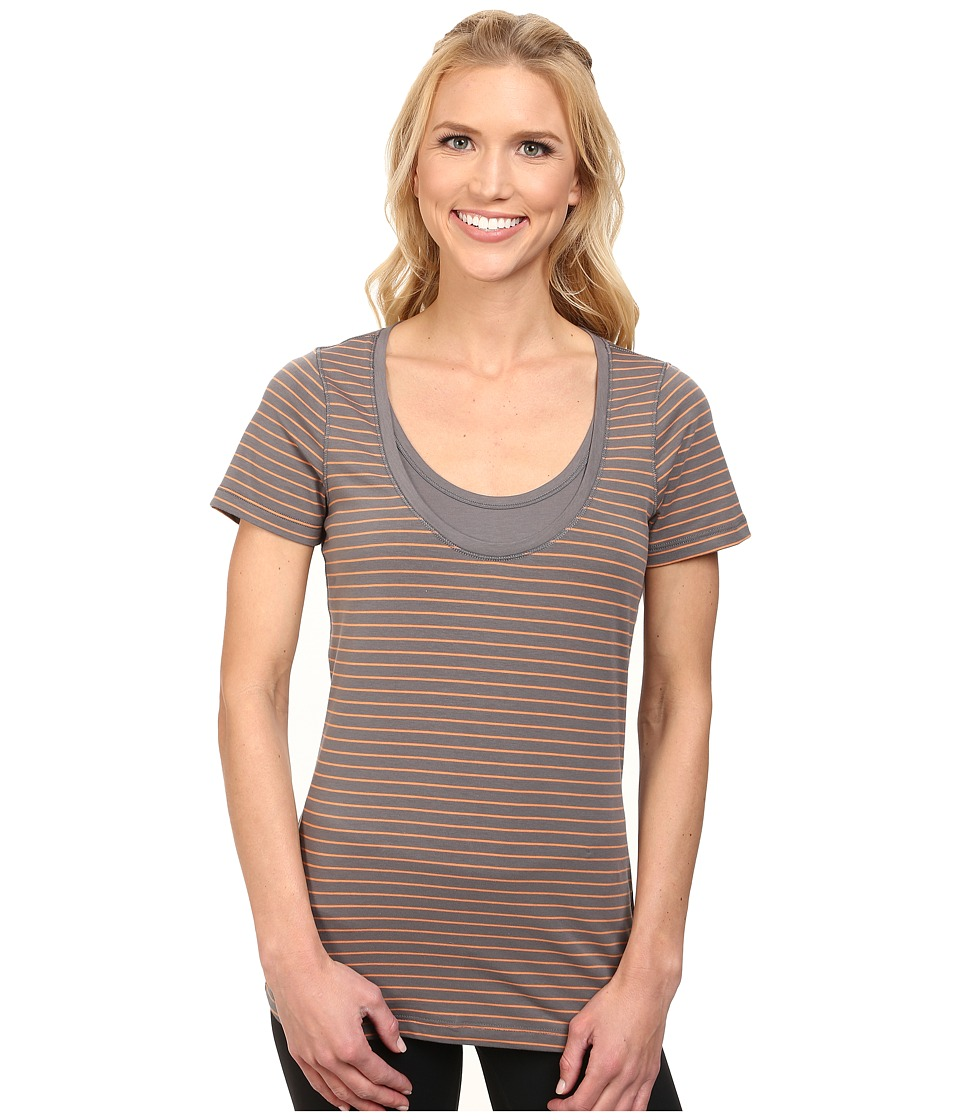 Lole - Kiss Top (Oyster 2 Tones) Women's Short Sleeve Pullover