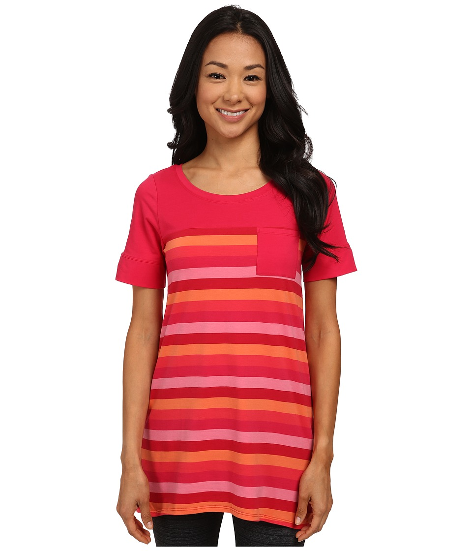 Lole - Principle Tunic (Chillies Multi-Stripes) Women's T Shirt
