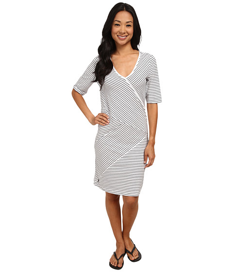 Lole - Leena V-Neck Dress (White 2 Tones) Women