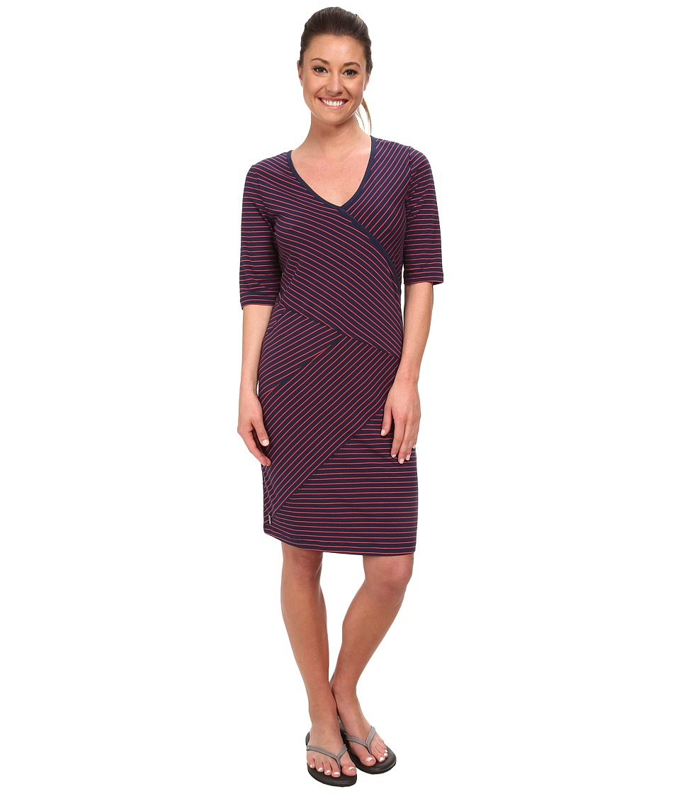 Lole - Leena V-Neck Dress (Blueberry 2 Tones) Women's Dress