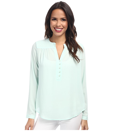 NYDJ - Quilted Yoke Blouse (Celadon) Women's Blouse