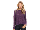 DKNY Jeans Yarn Mix Intarsia Pullover (Port Heather)